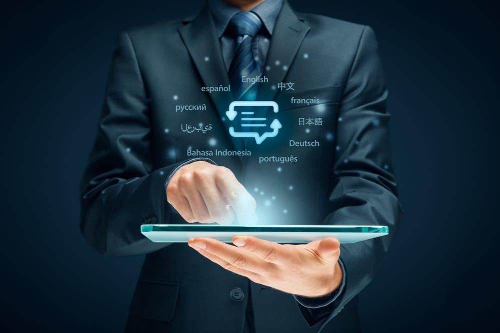 image of technology and translation